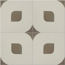 White and Beige Lozenge Tile
