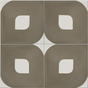 Brown and White Lozenge Tile