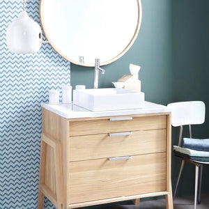 Frame Oak Furniture and Basin