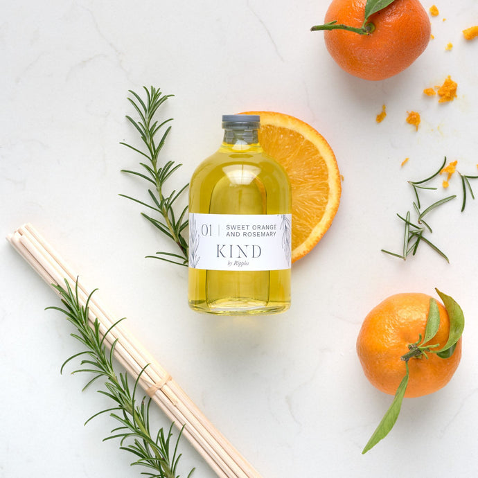 01 | Sweet Orange and Rosemary Natural Reed Diffuser