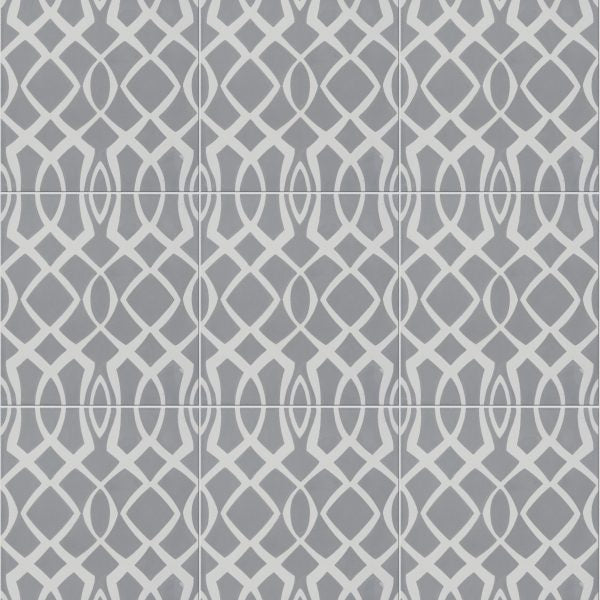 Modern Lattice Grey Encaustic