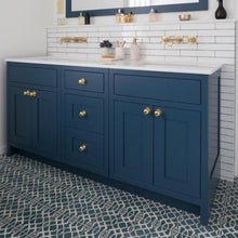 Modern Lattice Moroccan Blue Encaustic