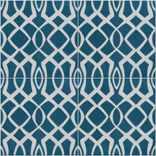 Moroccan blue lattice pattern tile