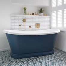 Freestanding Painted Boat Bath