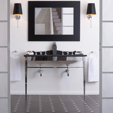 Ripples black basin washstand