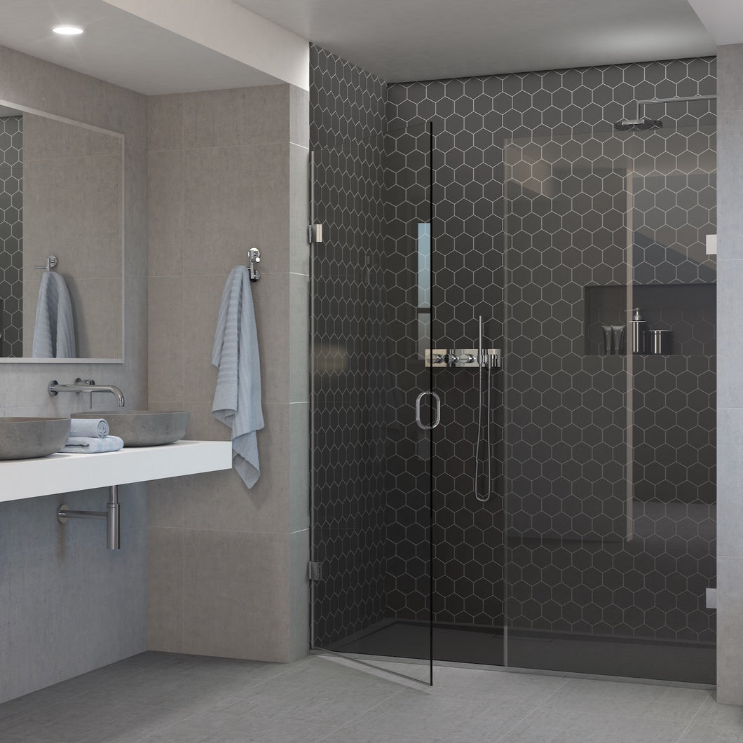 Recess Door With Inline Shower Panel