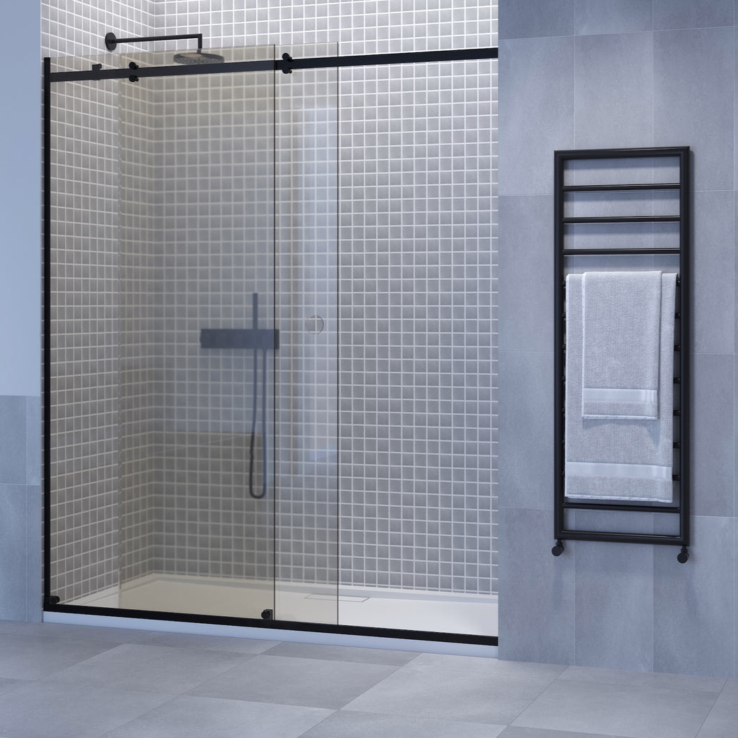 Sliding Door Shower With Fixed Panel
