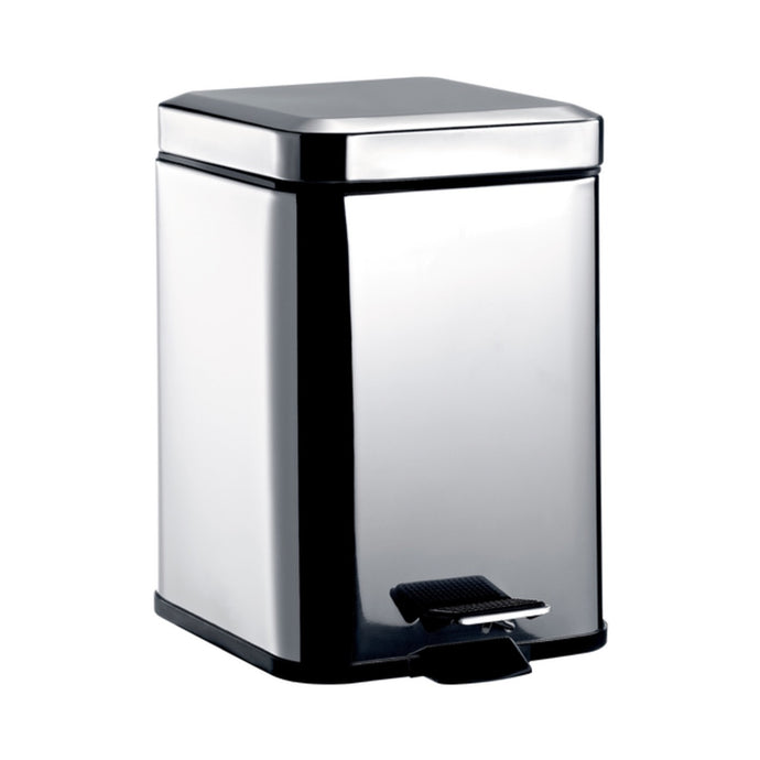 System2 Bathroom Square Bin With Lid 5L