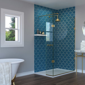 Two Fixed Panel Walk-In Shower