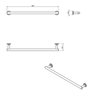Architect Towel Rack 590