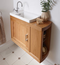 Ripples cloakroom basin oak