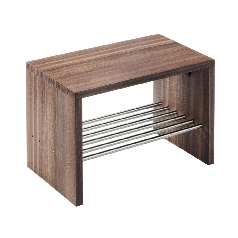 Container Stool With Shelf