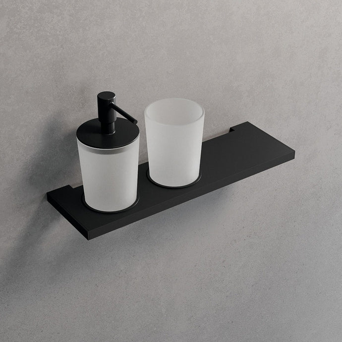 EDGE Shelf with Glass & Soap Dispenser