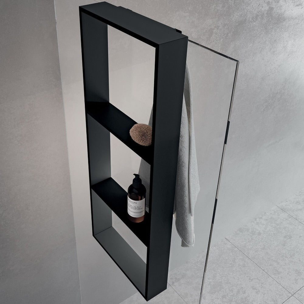 EDGE Shower Storage 3 Internal Shelves with Towel Hook