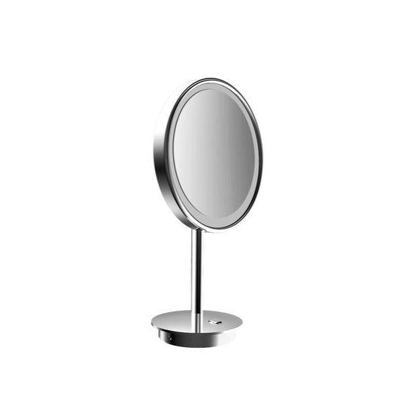 Freestanding LED cosmetic shaving mirror