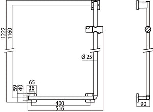 System2 Shower Rail For Folding Seat (L)