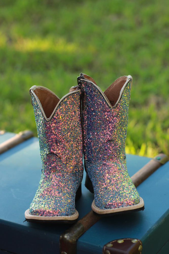 Mermaid Sparkle Cowgirl Boots