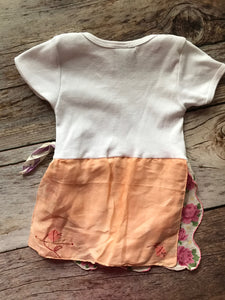 Hankie Baby- Peach Onesie Dress