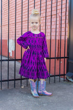 Purple Ikat Dress