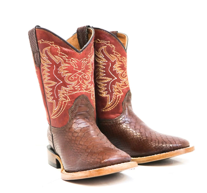 Brown Python Cowboy Boots
