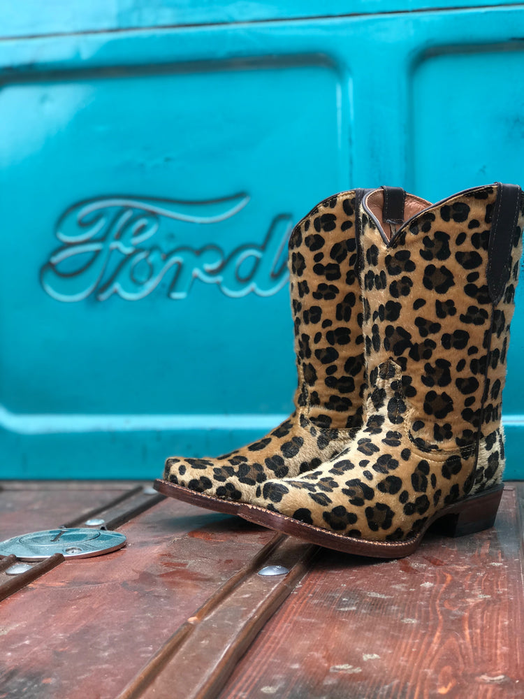 Izzy Leopard Cowgirl Boots