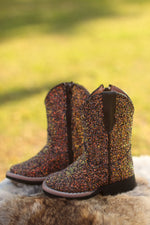 Brown Mermaid Cowgirl Boots