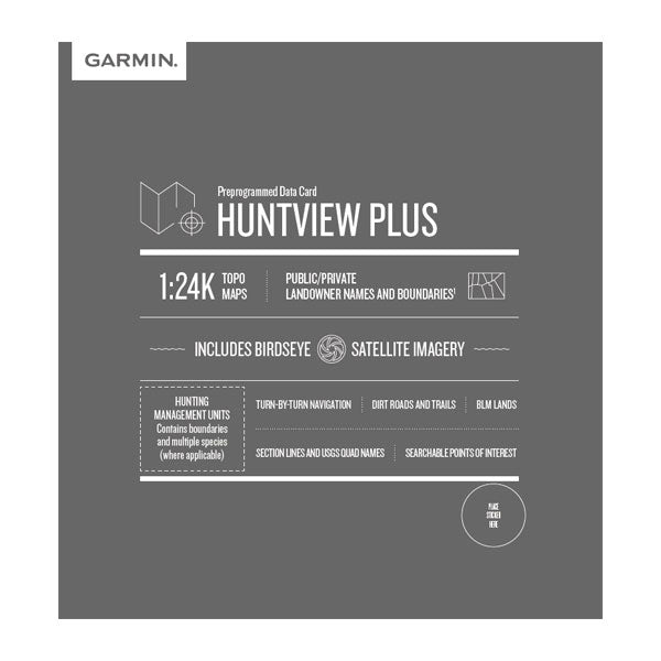 Garmin HuntView™ Plus Maps