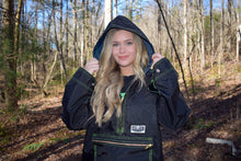 Load image into Gallery viewer, Black Quarter Zip Hooded Hunting Jacket (523)