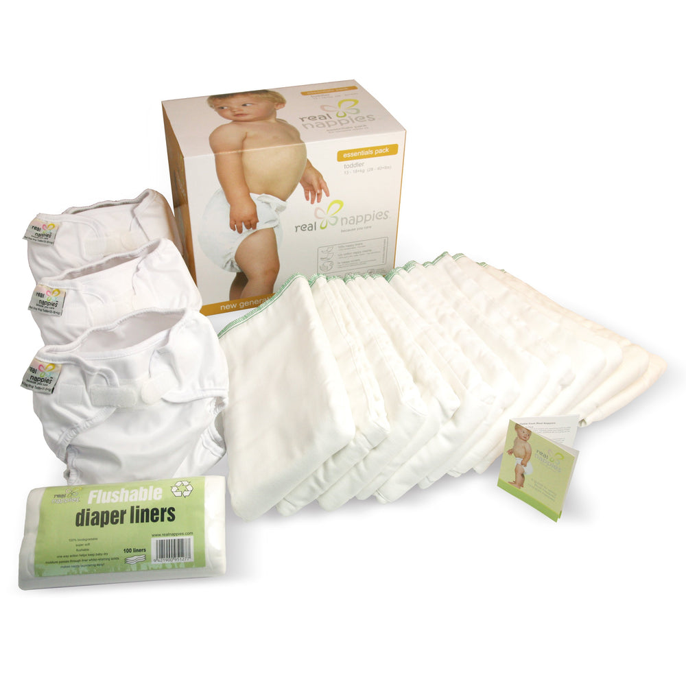 Real Nappies reusable cloth nappies-Organic Essentials Pack-Toddler-
