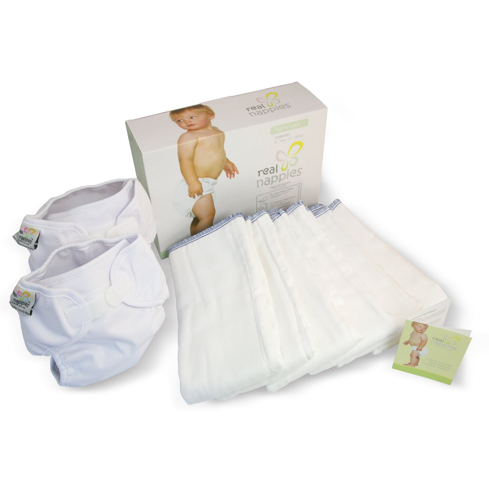 Real Nappies reusable cloth nappies-Organic Top Up Pack-Crawler-