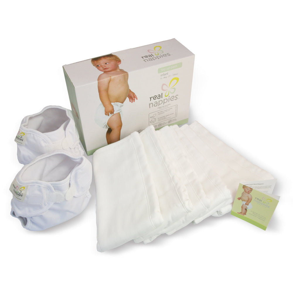 Real Nappies reusable cloth nappies-Organic Top Up Pack-Infant-