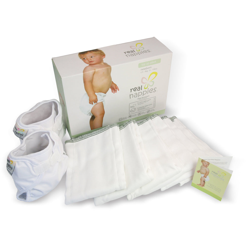 Real Nappies reusable cloth nappies-Organic Top Up Pack-Newborn-