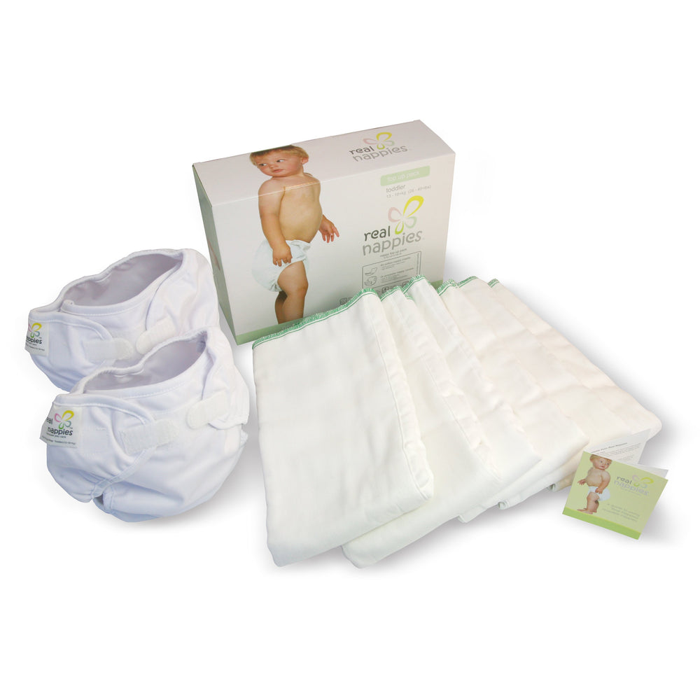 Real Nappies reusable cloth nappies-Organic Top Up Pack-Toddler-
