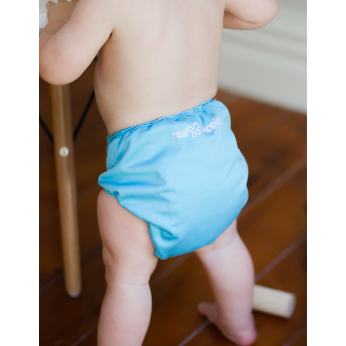Real Nappies reusable cloth nappies-Snug Wrap Nappy Cover - CRAWLER (8-14kg)-