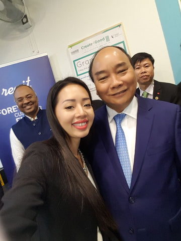 Cindy From Regit With The Prime Minister of Vietnam