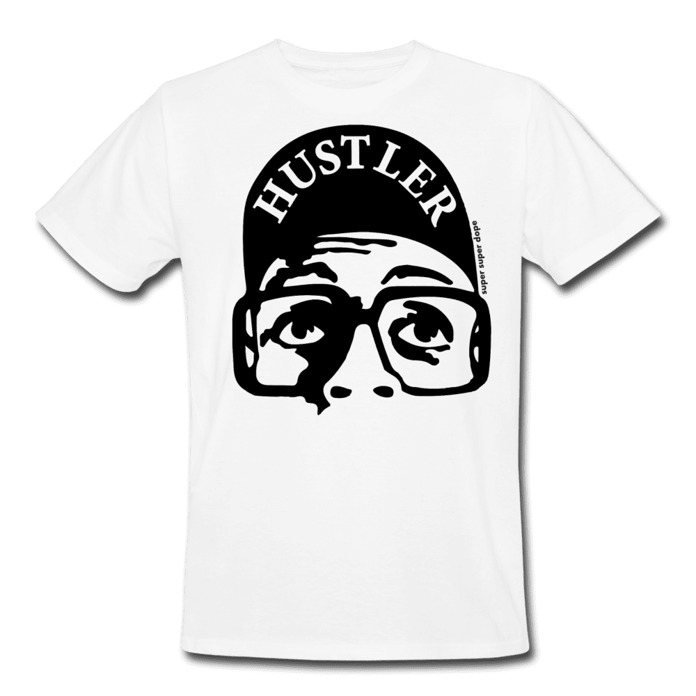 Hustle With Spike Organic White T-Shirt Men's Organic T-Shirt SPOD
