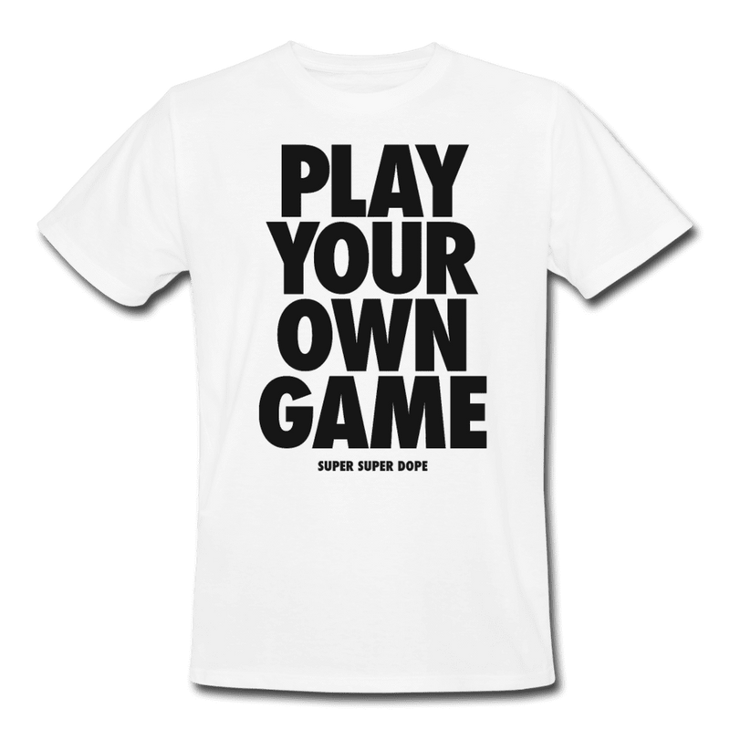 Play Your Own Game White Organic Graphic T-Shirt Men's Organic T-Shirt SPOD