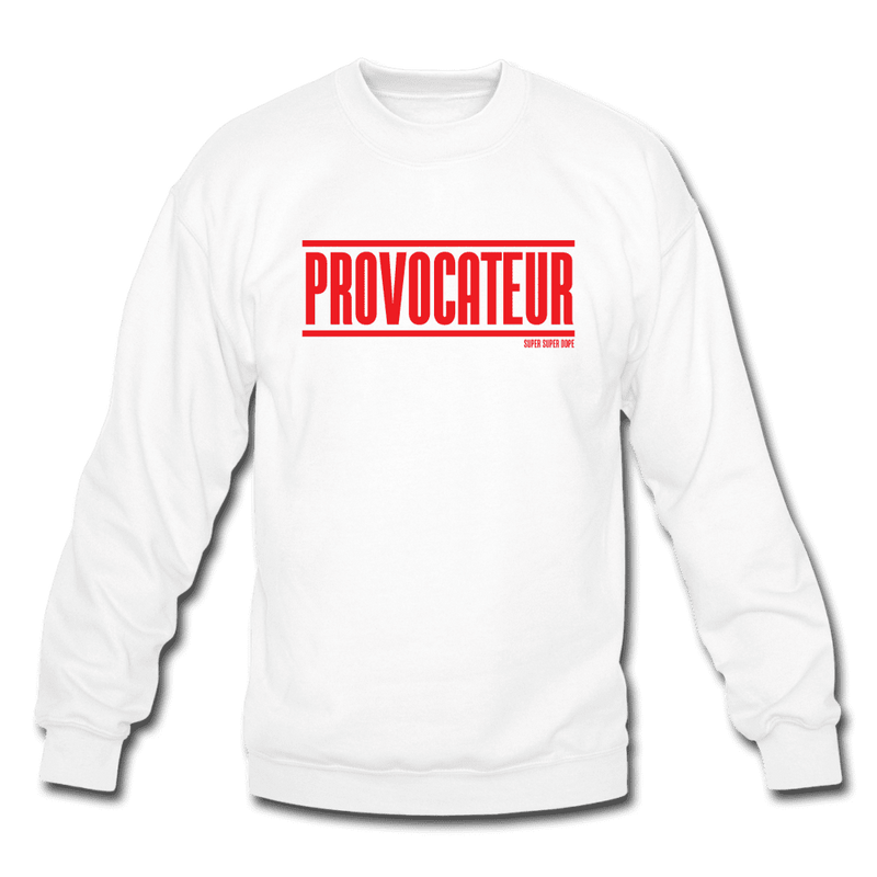 Provocateur Red Logo White Crewneck Sweatshirt Crewneck Sweatshirt SPOD