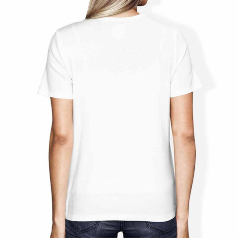 Super Super Dope Logo White Organic T-Shirt With Chest Print Organic T-Shirt SPOD