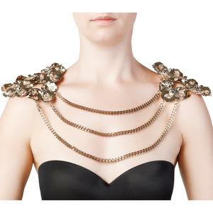 """LEONORE"" SHOULDER NECKLACE WITH SCAPULAR"