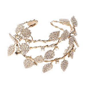 vittorio ceccoli jewelry design medium sculpture bracelet with leaves gold palladium gun metal