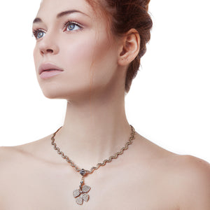 vittorio ceccoli jewelry design necklace with leaves pendant jewel light gold palladium antique silver black