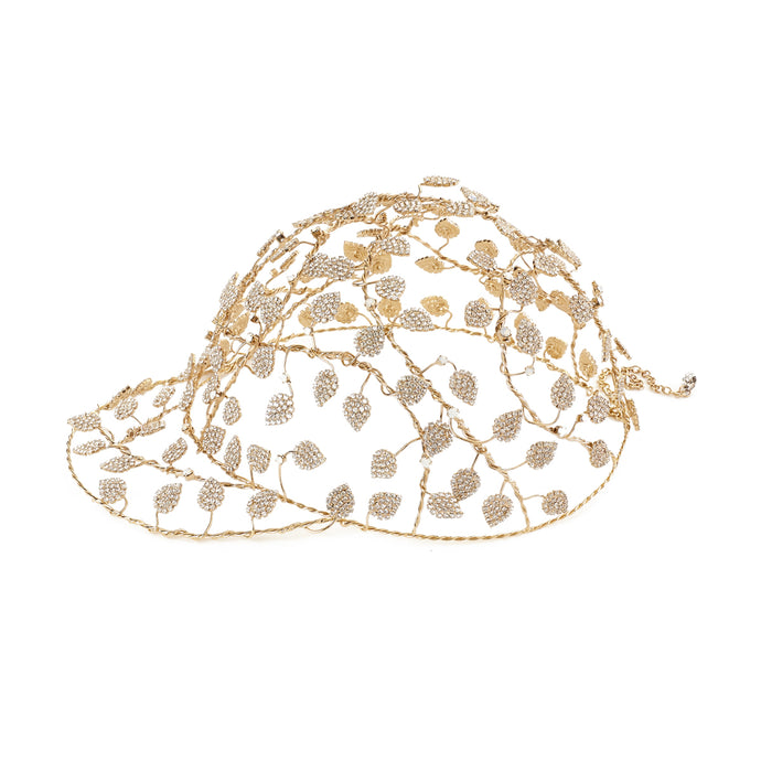 vittorio ceccoli jewelry design leaves baseball cap jewel gold palladium black