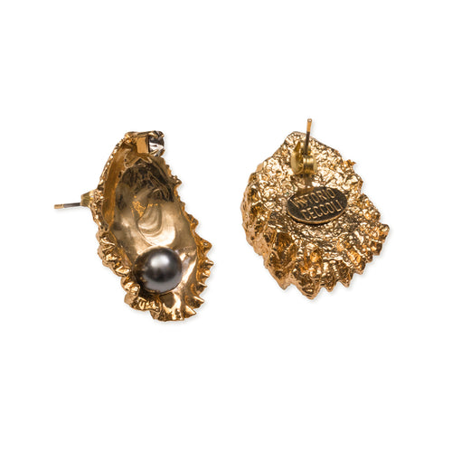vittorio ceccoli jewelry design oyster earrings jewel gold antique silver