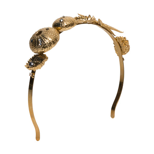 vittorio ceccoli jewelry design seabed headband jewel light gold antique silver