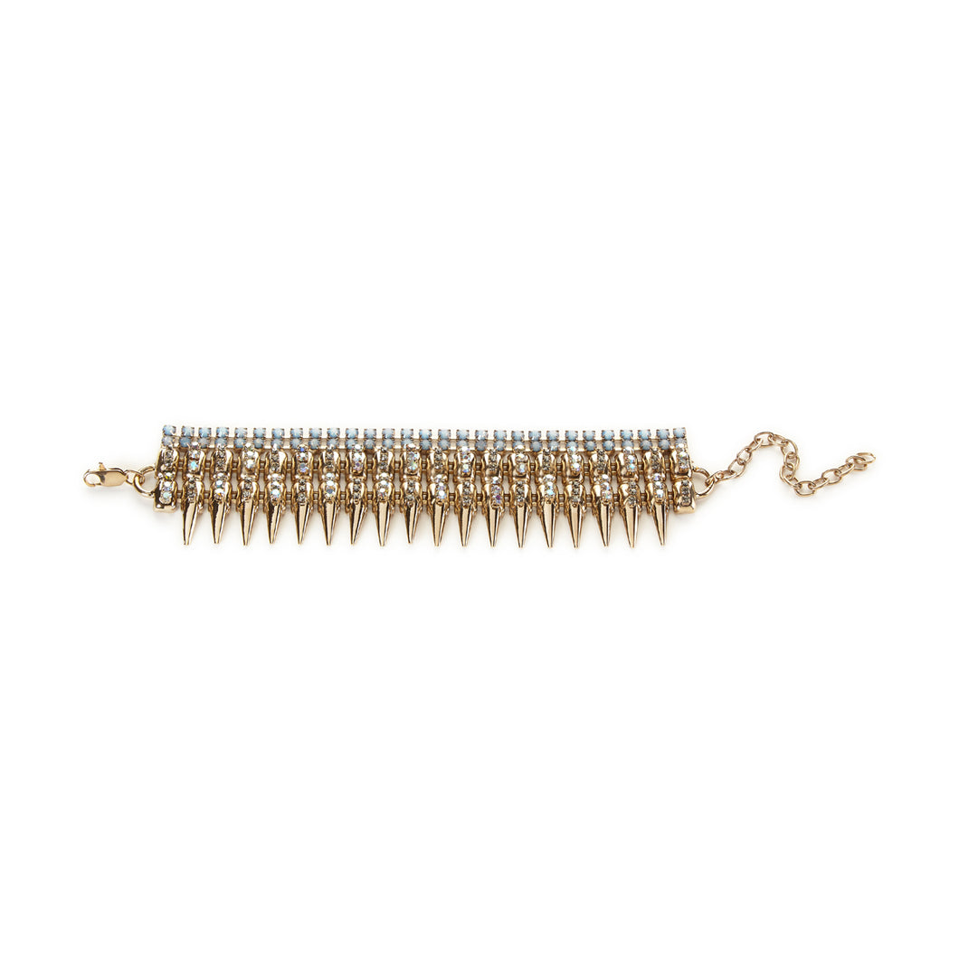 vittorio ceccoli jewelry design biceps bracelet with spikes jewel light gold palladium antique silver black