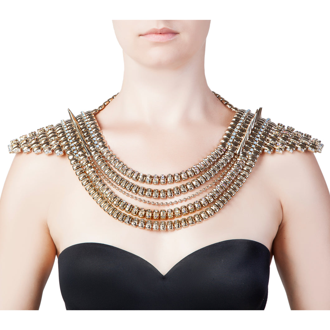 ETNO SPIKES SHOULDER NECKLACE
