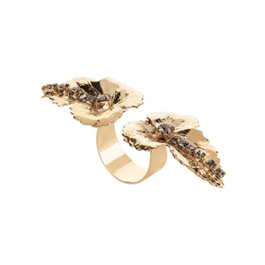 vittorio ceccoli jewelry design ring with leaves jewel light gold antique silver