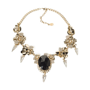 STATEMENT NECKLACE WITH BLACKSTONE AND SPIKES