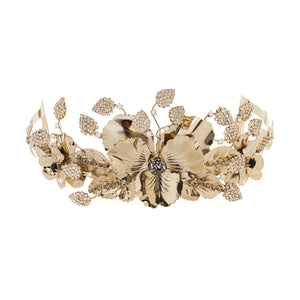 vittorio ceccoli jewelry design pansy coronet with leaves jewel light gold